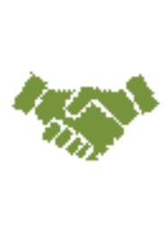 Piktogramm zweier Hände, die sich reichen